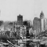 Panoramic View of Earthquake and Fire Damage
