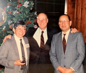 Dan Shapiro (center), Harry Okino (left), and John H. Hom (right)