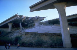 Damage to the Golden State Freeway