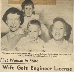 Newspaper Headline - First Woman Structural Engineer