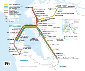 Current BART System Map