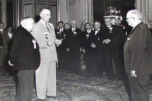 Henry J. Brunnier with French President Vincent Auriol