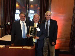 Steve Mahin receiving SEAONC Helmut Krawinkler Award - 2017