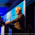 Steve Mahin at the 16th World Conference on Earthquake Engineering