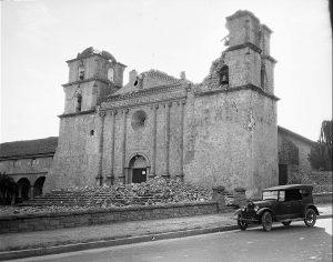 Damage to Mission Santa Barbara