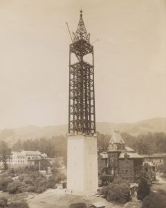 Sather Tower Under Construction - Granite Panels